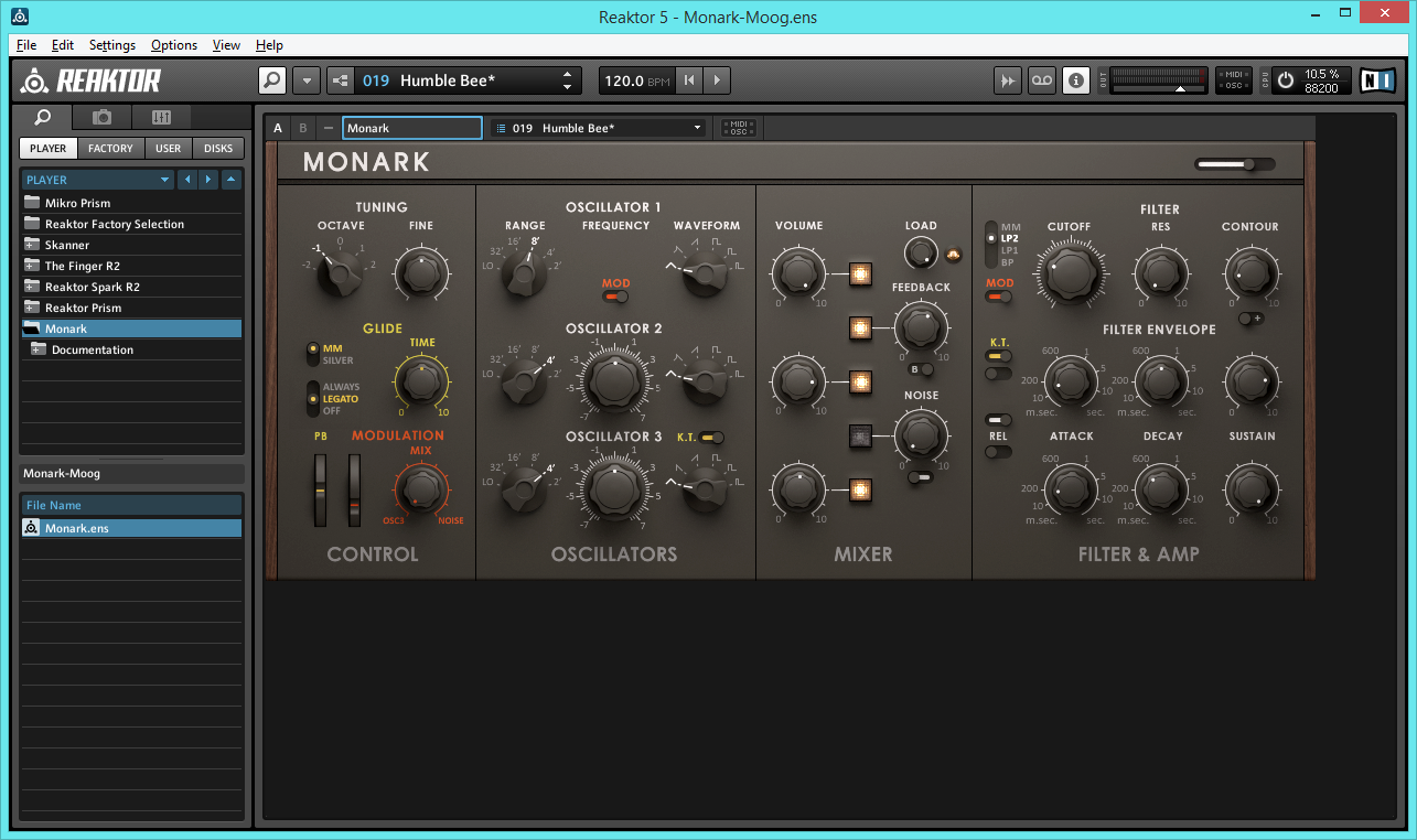 Moog & Monark – Web Audio Tech